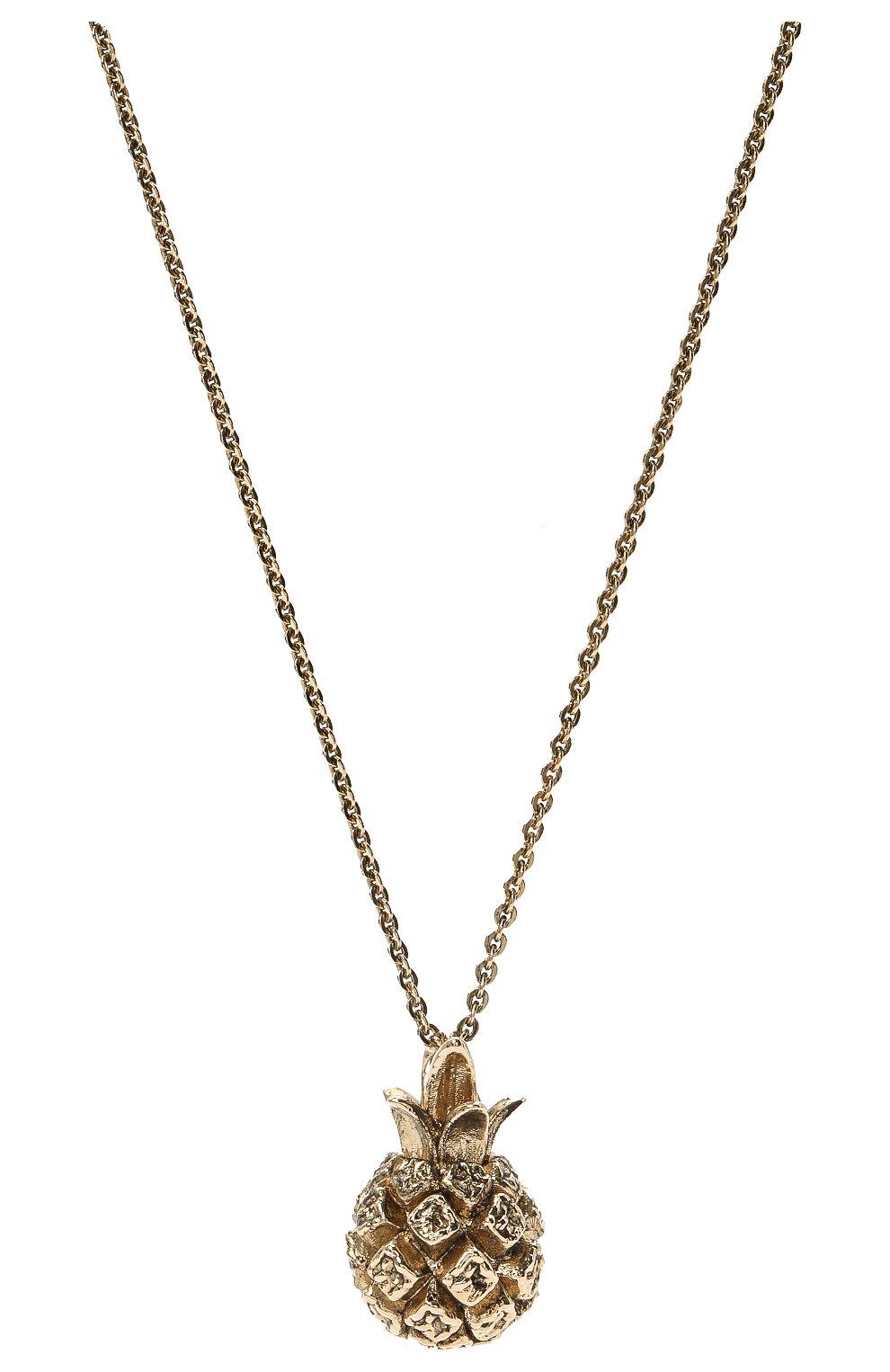 Женское кулон на цепочке SAINT LAURENT золотого цвета, арт. 646060/Y1500 | Фото 2