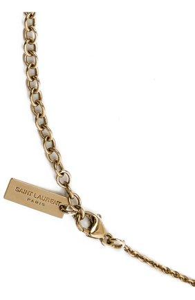 Женское кулон на цепочке SAINT LAURENT золотого цвета, арт. 646060/Y1500 | Фото 3