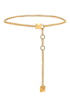 Женский пояс  VALENTINO золотого цвета, арт. VW0T0W20/CQC | Фото 1 (Кросс-КТ: Тонкие)