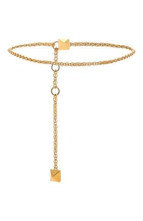 Женский пояс  VALENTINO золотого цвета, арт. VW0T0W20/CQC | Фото 2 (Кросс-КТ: Тонкие)