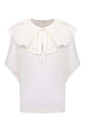 Женская льняная блузка TELA белого цвета, арт. 02 0011 01 0172 | Фото 1