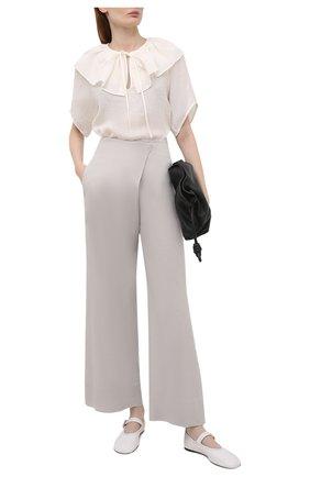 Женская льняная блузка TELA белого цвета, арт. 02 0011 01 0172 | Фото 2