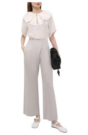 Женские льняные брюки TELA серого цвета, арт. 14 0001 01 9971 | Фото 2