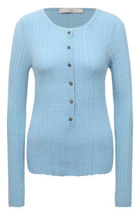 Женский хлопковый пуловер TELA светло-голубого цвета, арт. B2 2403 07 T144 | Фото 1