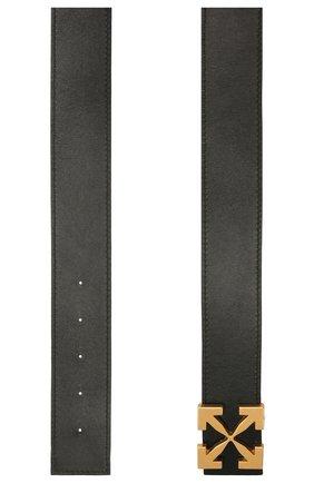Женский кожаный ремень arrow OFF-WHITE черного цвета, арт. 0WRB050S21LEA001 | Фото 2