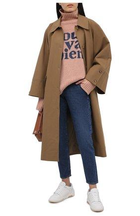 Женский шерстяной свитер ZADIG&VOLTAIRE светло-розового цвета, арт. SKMF1114F   Фото 2
