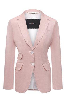 Женский шерстяной жакет KITON светло-розового цвета, арт. D20513K09T26 | Фото 1