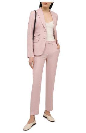 Женский шерстяной жакет KITON светло-розового цвета, арт. D20513K09T26 | Фото 2