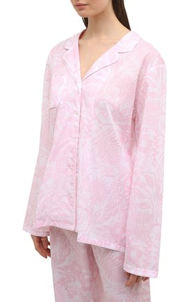 Женская хлопковая пижама DEREK ROSE светло-розового цвета, арт. 2029-LEDB042 | Фото 2