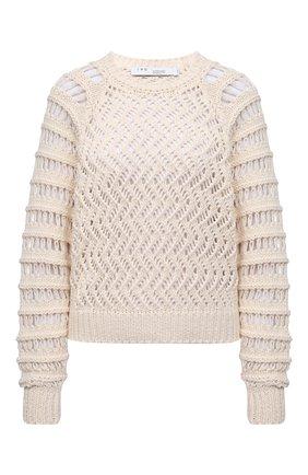 Женский хлопковый свитер IRO светло-бежевого цвета, арт. WM12ATTICA | Фото 1