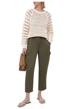 Женский хлопковый свитер IRO светло-бежевого цвета, арт. WM12ATTICA | Фото 2
