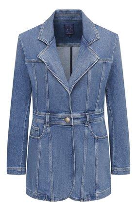 Женский джинсовый жакет JACOB COHEN синего цвета, арт. J9163 01420-W1/55 | Фото 1
