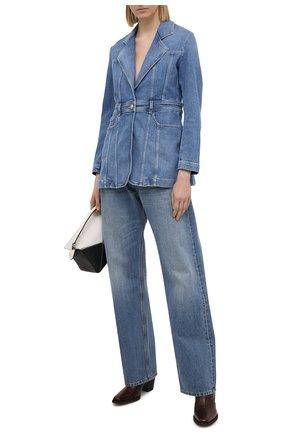 Женский джинсовый жакет JACOB COHEN синего цвета, арт. J9163 01420-W1/55 | Фото 2