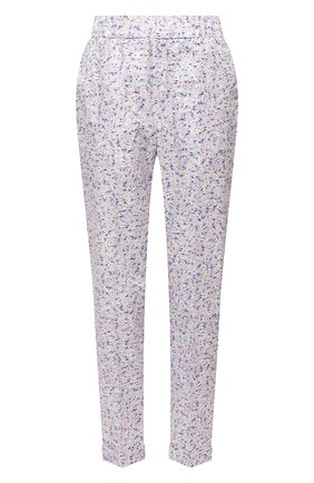 Женские хлопковые брюки ERMANNO FIRENZE сиреневого цвета, арт. D38ET PL01PFF | Фото 1