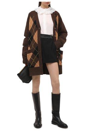 Женские шорты ERMANNO FIRENZE черного цвета, арт. D38ET PC03CRE | Фото 2