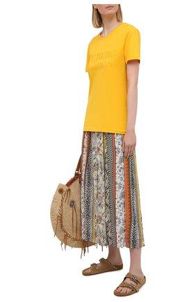 Женская юбка из вискозы ERMANNO FIRENZE разноцветного цвета, арт. D38ET GN17GFE | Фото 2