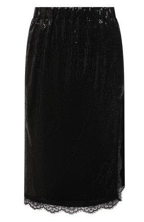 Женская юбка с пайетками ERMANNO FIRENZE черного цвета, арт. D38ET GN10PAI | Фото 1