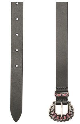 Женский кожаный ремень ISABEL MARANT черного цвета, арт. CE0577-21E004A/TEM0IA | Фото 2
