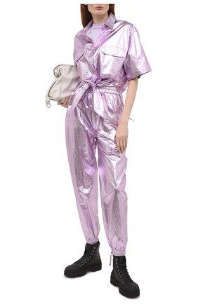 Женская хлопковая рубашка ISABEL MARANT сиреневого цвета, арт. CH0737-21E014I/GILIGGY | Фото 2