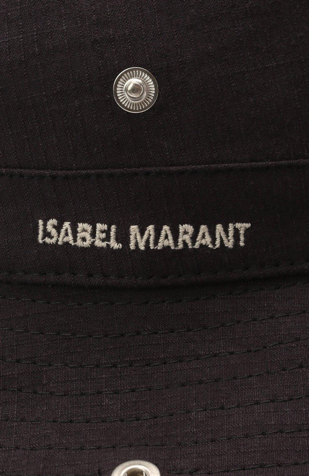 Женская панама из льна и хлопка ISABEL MARANT фиолетового цвета, арт. CU0043-21E023A/CAVIAN0 | Фото 3