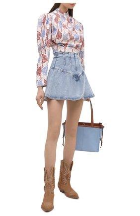 Женская джинсовая юбка ISABEL MARANT голубого цвета, арт. JU1283-21E019I/DIMENIA | Фото 2