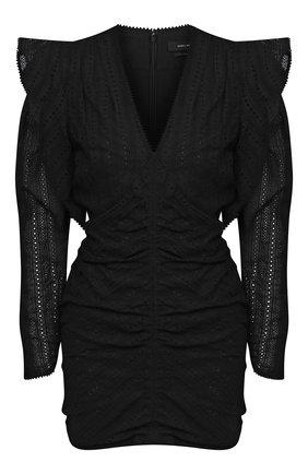 Женское хлопковое платье ISABEL MARANT черного цвета, арт. R01919-21P024I/GETYA | Фото 1