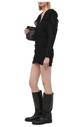 Женское хлопковое платье ISABEL MARANT черного цвета, арт. R01919-21P024I/GETYA | Фото 2