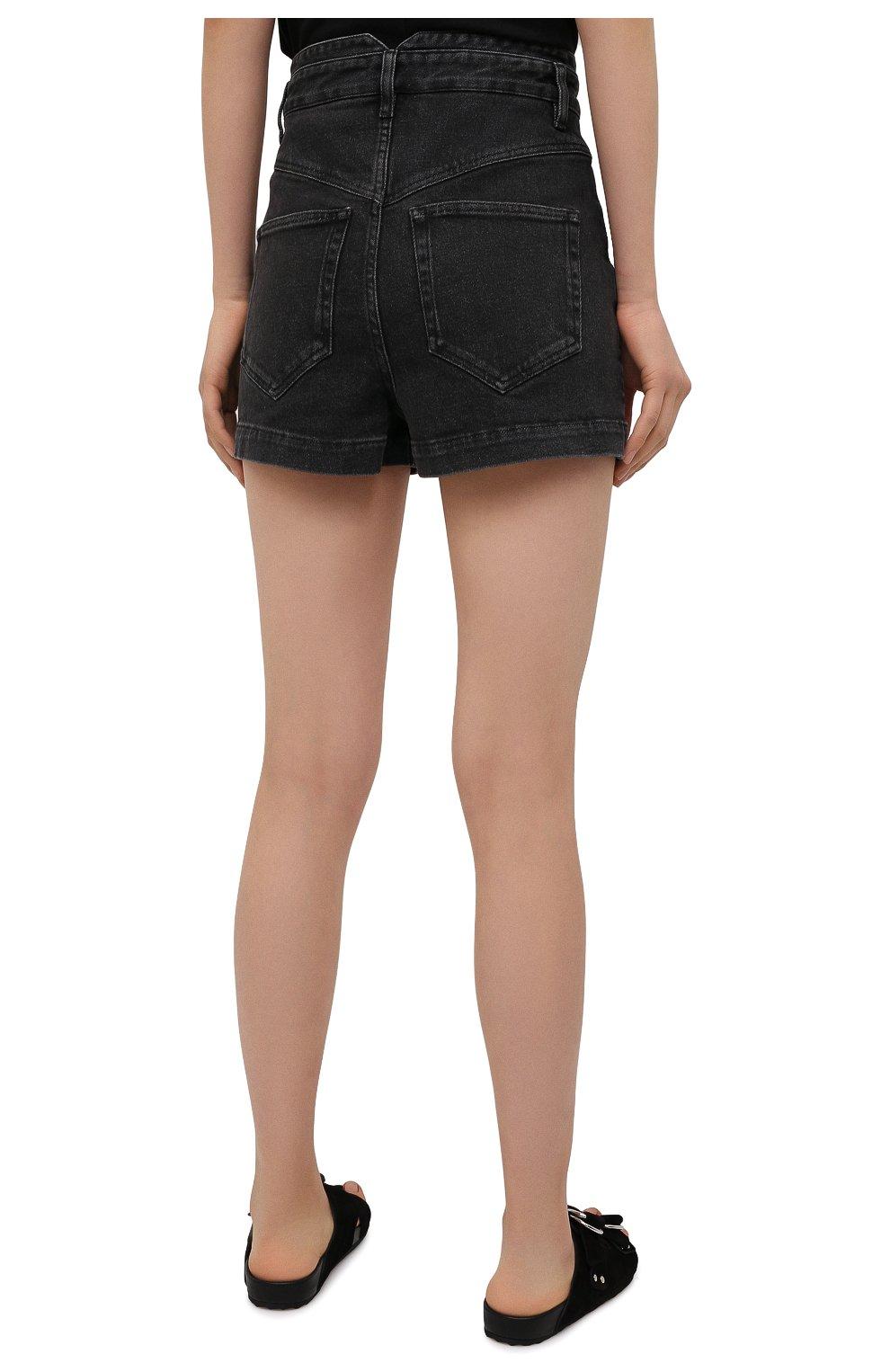 Женские джинсовые шорты ISABEL MARANT темно-серого цвета, арт. SH0394-21E019I/DIR0YSR   Фото 4