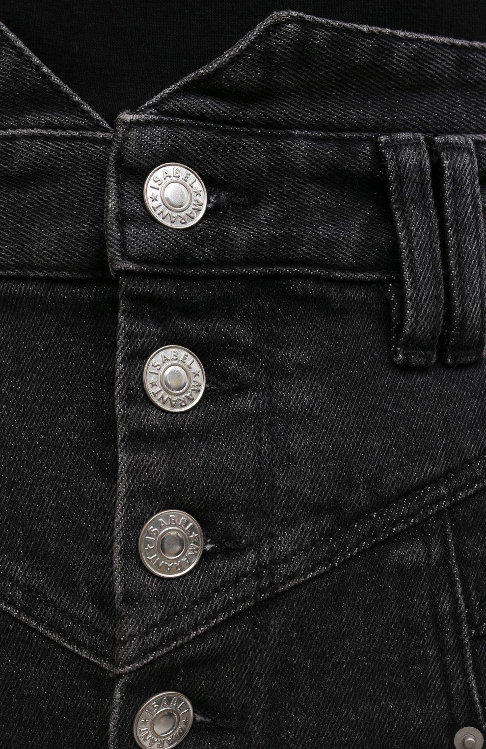 Женские джинсовые шорты ISABEL MARANT темно-серого цвета, арт. SH0394-21E019I/DIR0YSR | Фото 5