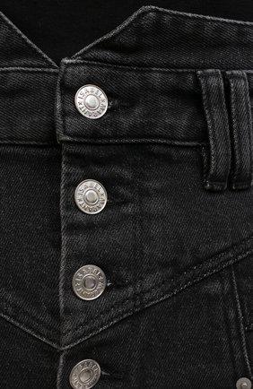 Женские джинсовые шорты ISABEL MARANT темно-серого цвета, арт. SH0394-21E019I/DIR0YSR   Фото 5