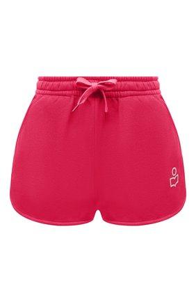 Женские хлопковые шорты ISABEL MARANT фуксия цвета, арт. SH0404-21E006W/MIFIKIA | Фото 1 (Длина Ж (юбки, платья, шорты): Мини; Материал внешний: Хлопок; Женское Кросс-КТ: Шорты-одежда; Стили: Спорт-шик)