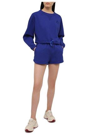 Женский хлопковый свитшот ISABEL MARANT синего цвета, арт. SW0298-21E006W/MARG0 | Фото 2