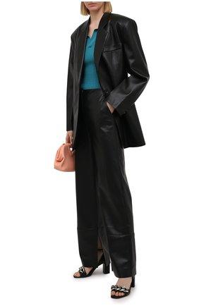 Женские кожаные босоножки VIC MATIE черного цвета, арт. 1Z5844D.Z22C8YB323 | Фото 2
