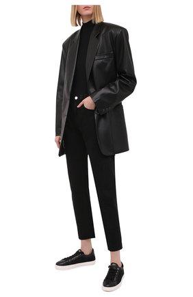 Женские комбинированные кеды AGL черного цвета, арт. D936031PGKT046A577   Фото 2