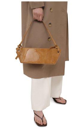 Женская сумка ramona REJINA PYO коричневого цвета, арт. IB52/PATENT LEATHER | Фото 2