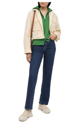 Женский кардиган из смеси шелка и хлопка LORO PIANA зеленого цвета, арт. FAI1074 | Фото 2