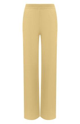 Женские кашемировые брюки LORO PIANA желтого цвета, арт. FAL5052   Фото 1 (Материал внешний: Шерсть, Кашемир; Длина (брюки, джинсы): Удлиненные; Силуэт Ж (брюки и джинсы): Прямые; Стили: Спорт-шик; Женское Кросс-КТ: Брюки-одежда)