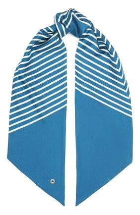Женский шелковый платок LORO PIANA синего цвета, арт. FAL5509 | Фото 1