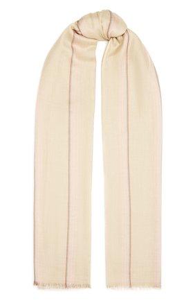 Женская шаль из кашемира и шелка LORO PIANA бежевого цвета, арт. FAL6210   Фото 1