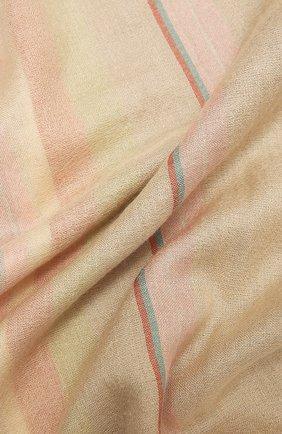 Женская шаль из кашемира и шелка LORO PIANA бежевого цвета, арт. FAL6210   Фото 2