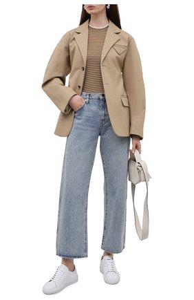 Женский пуловер из кашемира и шелка LORO PIANA коричневого цвета, арт. FAL6249   Фото 2