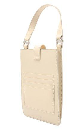 Кожаный чехол для телефона LORO PIANA светло-бежевого цвета, арт. FAL6471 | Фото 2