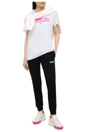 Женская хлопковая футболка COMME DES FUCKDOWN белого цвета, арт. CDFD1343 | Фото 2