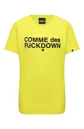 Женская хлопковая футболка COMME DES FUCKDOWN зеленого цвета, арт. CDFD1343 | Фото 1