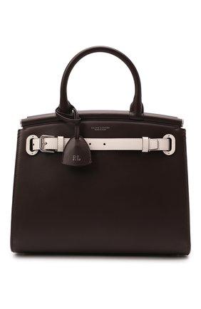 Женская сумка rl 50 medium RALPH LAUREN темно-коричневого цвета, арт. 435841216 | Фото 1