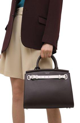 Женская сумка rl 50 medium RALPH LAUREN темно-коричневого цвета, арт. 435841216 | Фото 2