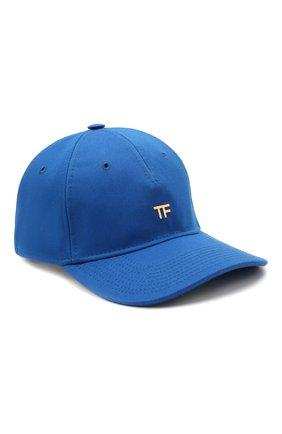 Женская хлопковая бейсболка TOM FORD синего цвета, арт. WH002T-TCN008 | Фото 1