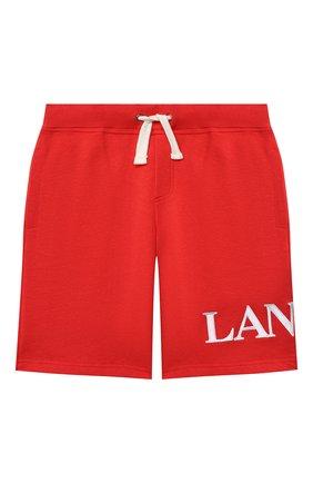Детские хлопковые шорты LANVIN красного цвета, арт. N24017   Фото 1