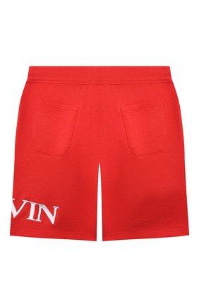 Детские хлопковые шорты LANVIN красного цвета, арт. N24017   Фото 2