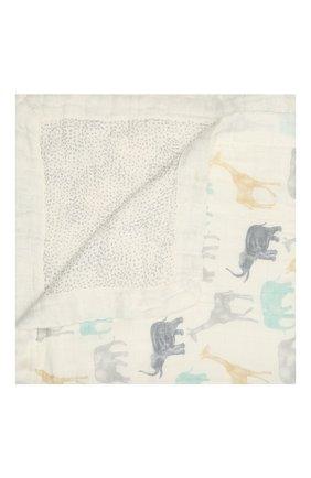 Детского хлопковое одеяло ADEN+ANAIS синего цвета, арт. ADBS10004 | Фото 1
